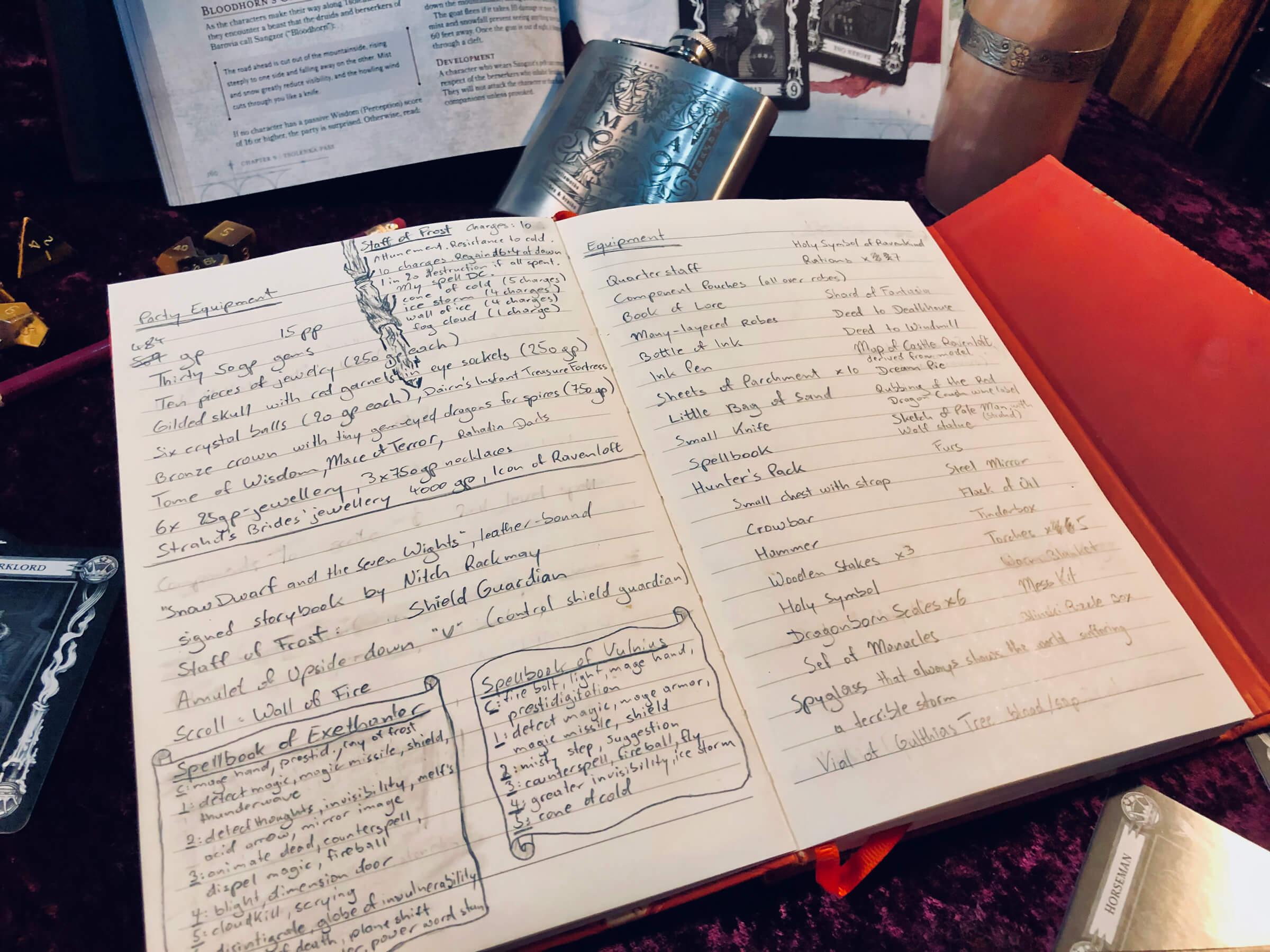 Curse of Strahd Game Notebook // Mottokrosh Machinations