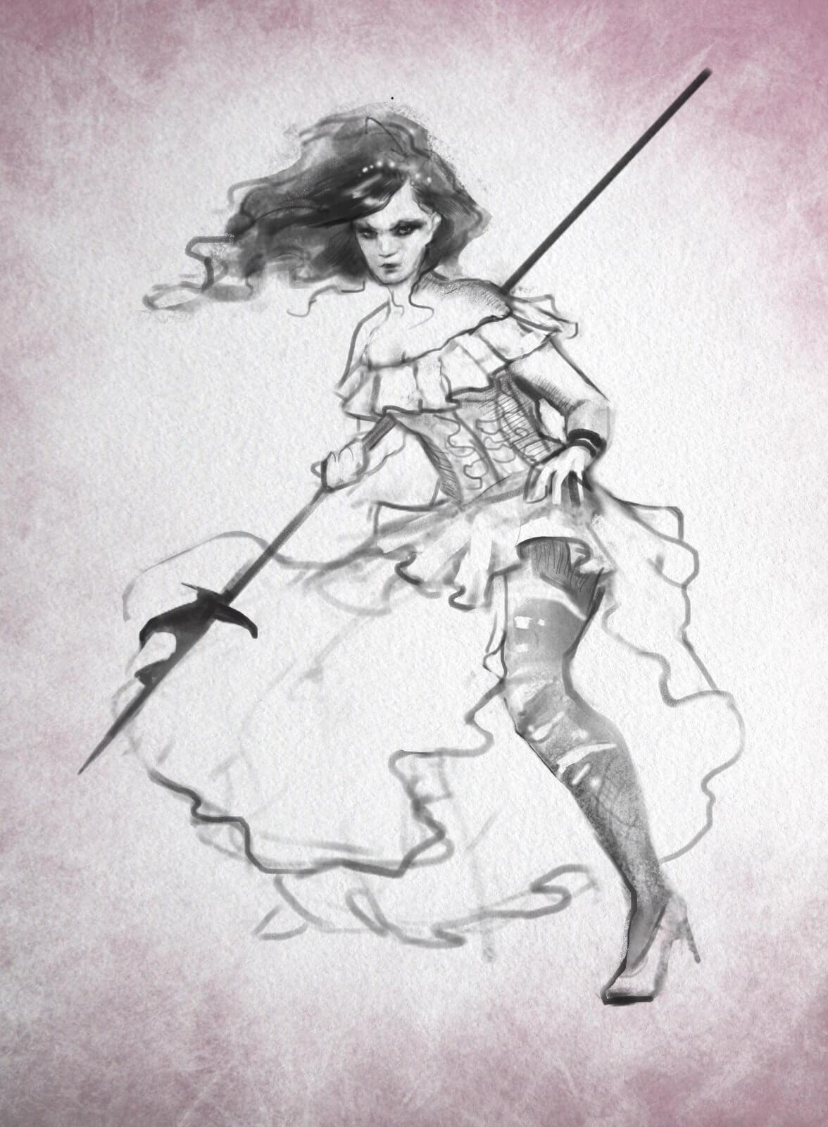 A goth princess.